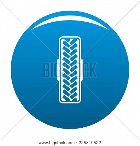 Tread pattern icon vector blue circle isolated on white background