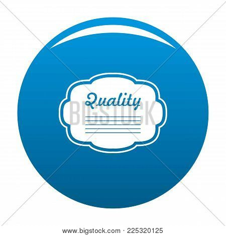 Grade label icon vector blue circle isolated on white background