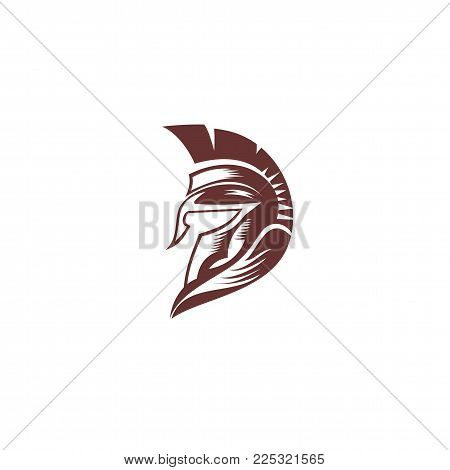 Roman spartan helmat on white background vector illustration design.