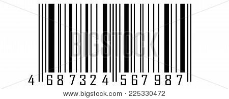 Realistic Barcode Icon. Barcode Vector Illustration. Bar Code Vector