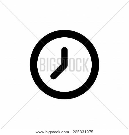 Clock icon in trendy flat style isolated on background. Clock icon page symbol for your web site design Clock icon logo, app, UI. Clock icon -  Vector illustration