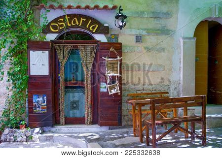 Vieste, Italy - September 5, 2006: A traditional tavern of the village