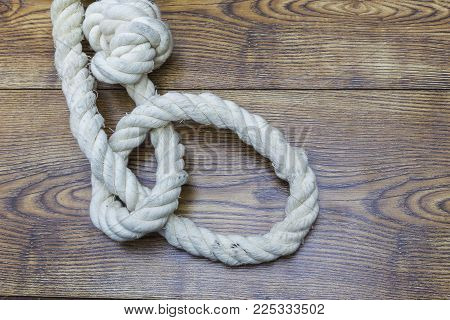 image of suicide. depression. Old rope with hangman's noose