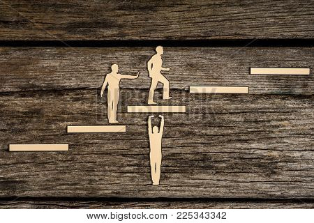 Climbing The Steps To Success In A Conceptual Image
