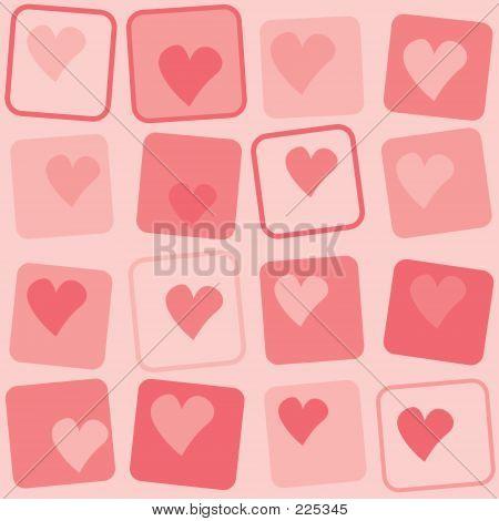 Retro Hearts Background
