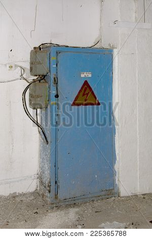The Old Abandoned Electric Distributing Board In The Building Of The Destroyed Building Of The Bread