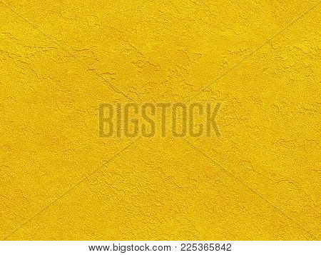 Golden Yellow Seamless Venetian Plaster Background Grunge Stone Texture. Traditional Venetian Plaste
