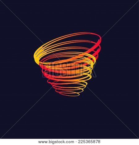 Icon cyclone, blizzard, whirlwind, spiral, typhoon. Vector illustration
