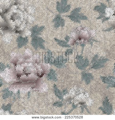Seamless Background Pattern. Imitation Of A Texture Of Rough Canvas Painted.