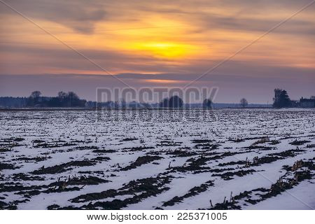 Winter Scenery In Podlasie Region Of Poland