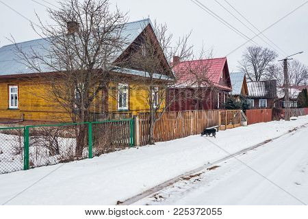 Soce Village In Podlasie Region Of Poland With Famous Traditional Folk Houses