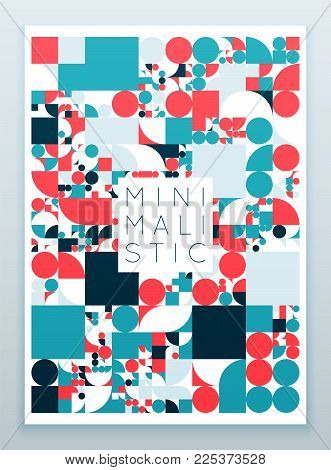 Vector minimal covers procedural design. Futuristic abstract minimalistic layout. Conceptual generative background. Modern journal or book cover template. eps10