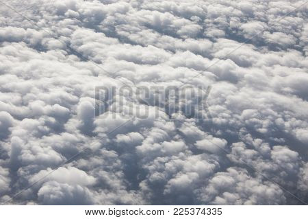 Flying Above The Clouds (background And Texture)