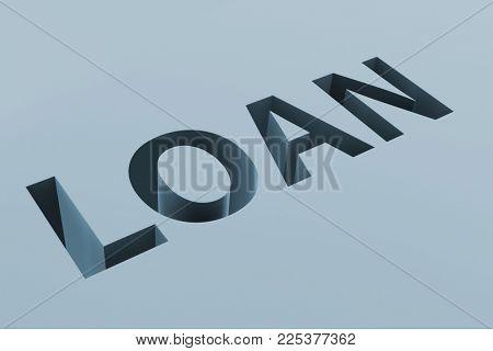 Debt and borrowing financial concept