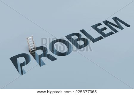 Business financial problem concept with letters on ground