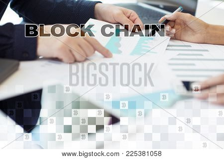 Blockchain Technology Concept. Internet Money Transfer. Cryptocurrency