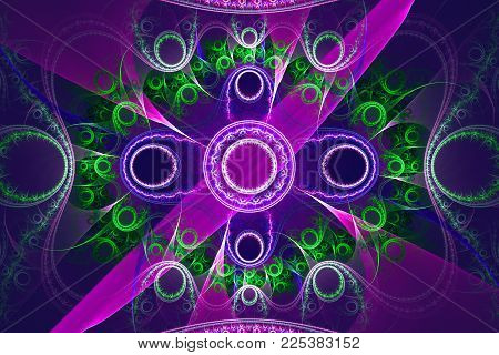Animated fractal frequency space universe galaxy psychedelic