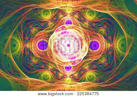 Animated fractal frequency space universe galaxy psychedelic music or for any other concept..