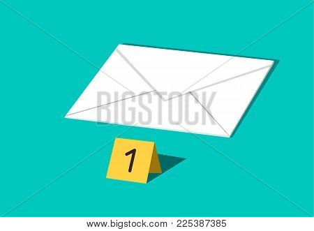 Letter and E-mail are important evidence in crime, vector