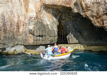 Coast At Blue Grotto In The Malta Island