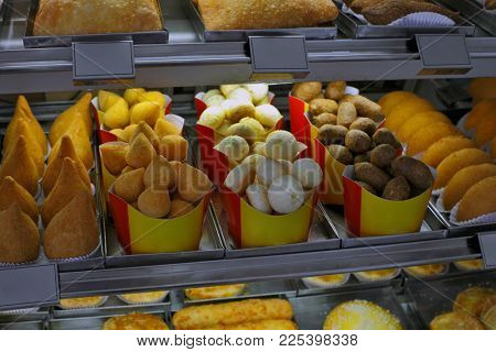 showcase of Brazilian snacks