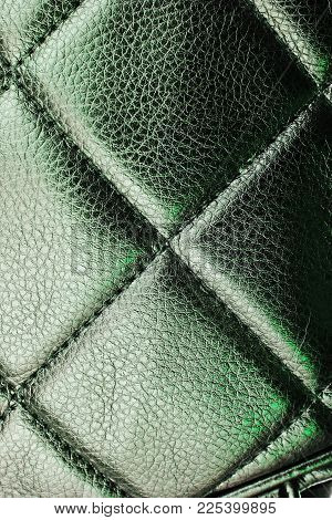 Faux Leather Designer Fabric Material Cloth As Background Pattern. Texture Closeup Photo..