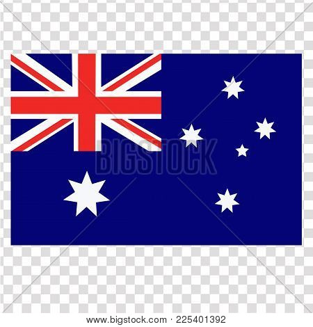 Bright Background With Flag Of Australia. Happy Australia Day Background. Illustration For Holiday A