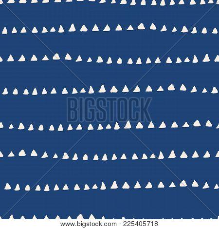 Tie Dye Watercolor Seamless Pattern. Vector Tradition Shibori Print. Geometric Minimal Endless Tile.