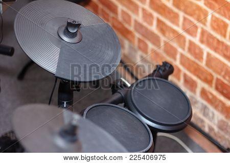 Closeup Of An Electronic Drum Kit Sets
