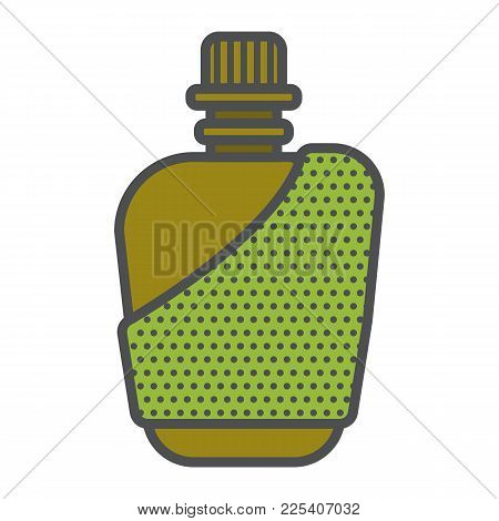 Miltary Flask Or Cantern Fo Water Or Alcohol. Useful For Jorney, Nature Leasure And Adventures. Camp