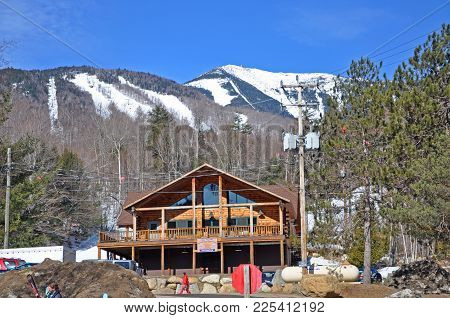 Lake Placid, Ny, Usa - Mar. 20, 2011: Whiteface Mountain Ski Area, The Official Ski Area For 1932 An
