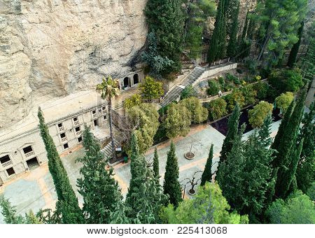 Santuario De La Virgen De La Esperanza. The Sanctuary Is Situated In A Cave Carved Into The Rock 6 K