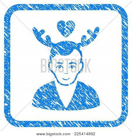 Deceived Horned Husband Rubber Seal Stamp Watermark. Icon Vector Symbol With Grunge Design And Uncle