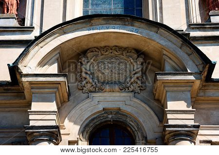 Studzianna, Poland - July 07, 2015: Architectural Detail Of  The Basilica Of Saints Philip Neri And