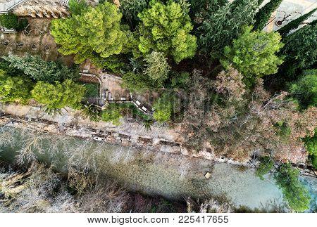 Segura River Near The Santuario De La Virgen De La Esperanza In Spain. Murcia