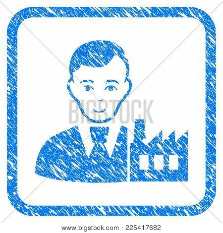 Capitalist Oligarch Rubber Seal Stamp Imitation. Icon Vector Symbol With Grunge Design And Dirty Tex