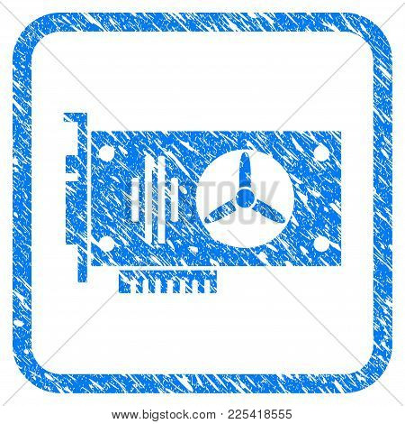 Videocard Rubber Seal Stamp Watermark. Icon Vector Symbol With Grunge Design And Corrosion Texture I