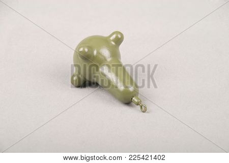 Sinker Brain Marker 70 Gr. Carp. Isolated On Grey Background