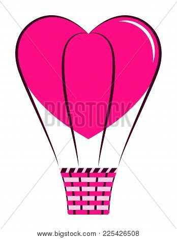 Vector Heart Balloon Isolated On White Background