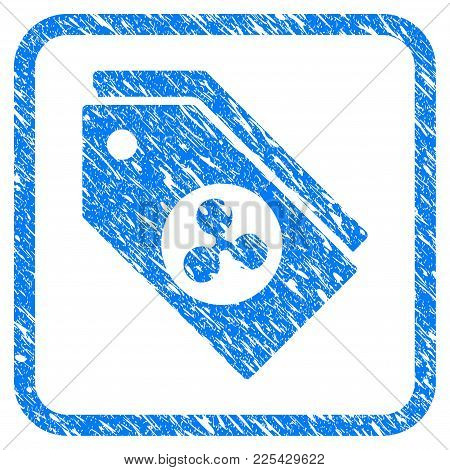 Ripple Tokens Rubber Seal Stamp Imitation. Icon Vector Symbol With Grunge Design And Dust Texture In