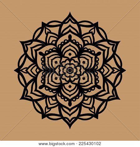 Mandala Vector Clipart, Black Mandala Banner, Mandala Pattern