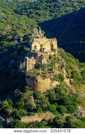 View Of The Remains Of The Montfort Castle, And Kziv Stream Landscape, In The Upper Galilee Region I
