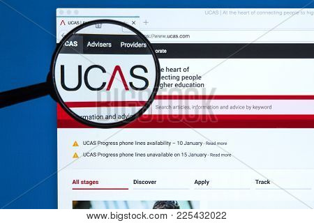 London, Uk - January 9th 2018: The Ucas Logo On Their Official Website, On 9th January 2018.  Ucas A