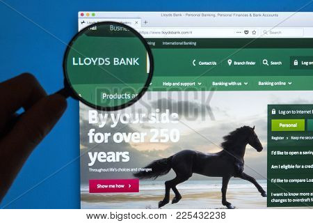 London, Uk - January 9th 2018: The Lloyds Bank Logo On Their Official Website, On 9th January 2018.