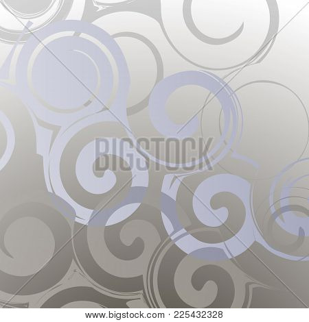 Abstract Grey Background With Circles From Monograms.