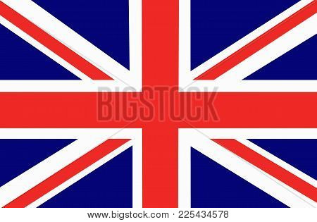 Bright Background With Flag Of England. Happy England Day Background. Illustration With Transparent