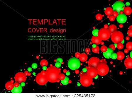 Colorful Glossy Balls Background. Falling Spheres. Abstract Candies. Vector Illustration