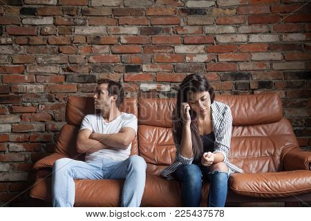 Frustrated Upset Couple In Quarrel Not Talking After Fight, Offended Stubborn Insulted Jealous Man S