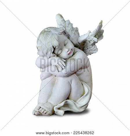 Little Guardian Angel Isolated On White Background