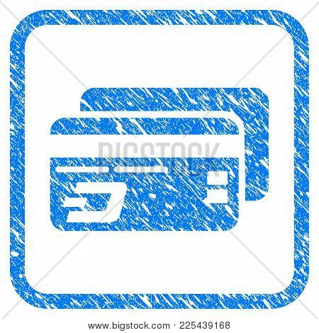Dash Bank Cards Rubber Seal Stamp Imitation. Icon Vector Symbol With Grunge Design And Corrosion Tex